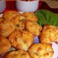 Muffins aux carottes-chèvre-oseille