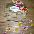 Carte bouquet - pliée
