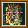 Rôti de porc moutardé et ses pommes de terre (et carottes)