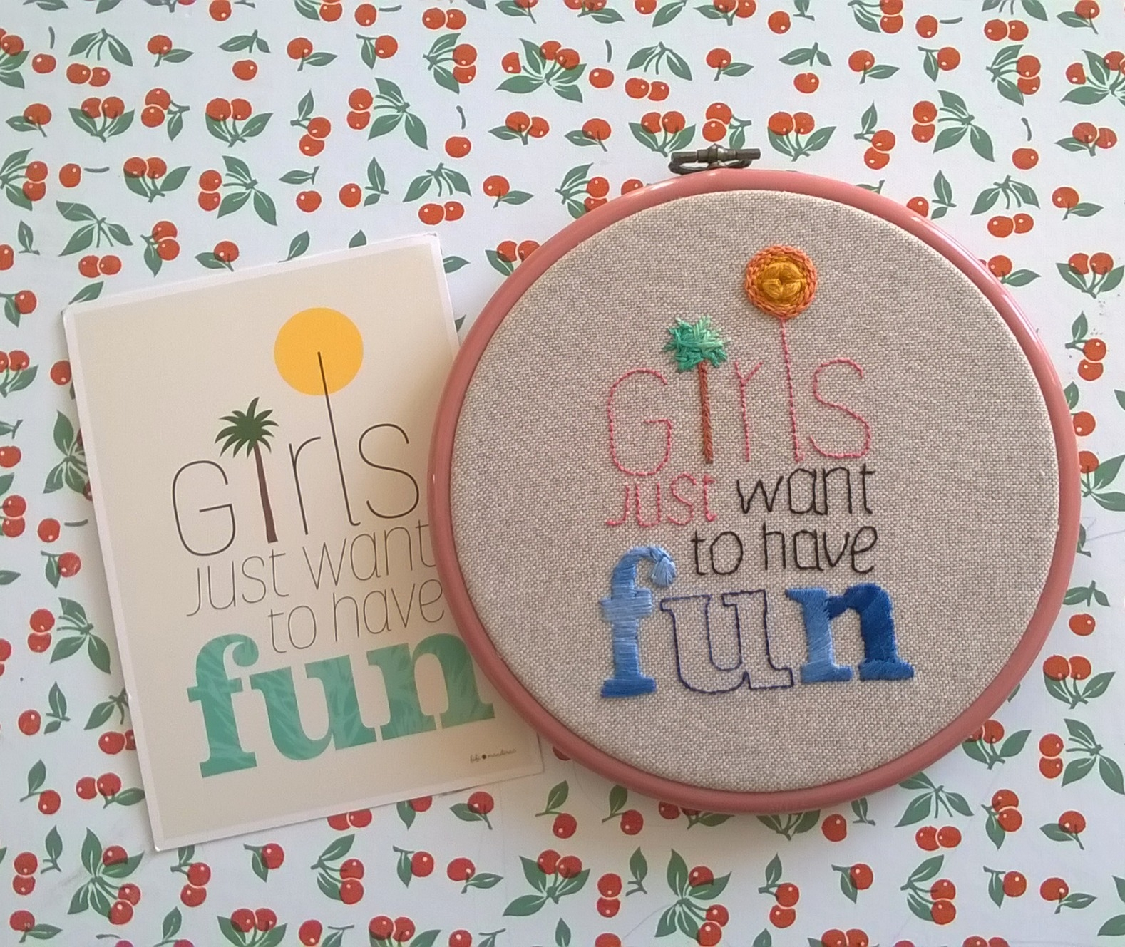 "Broderie : ""Girls Just Want To Have Fun"""
