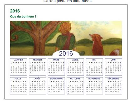 petit calendrier aimanté