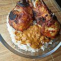 Pilons de poulet tandoori