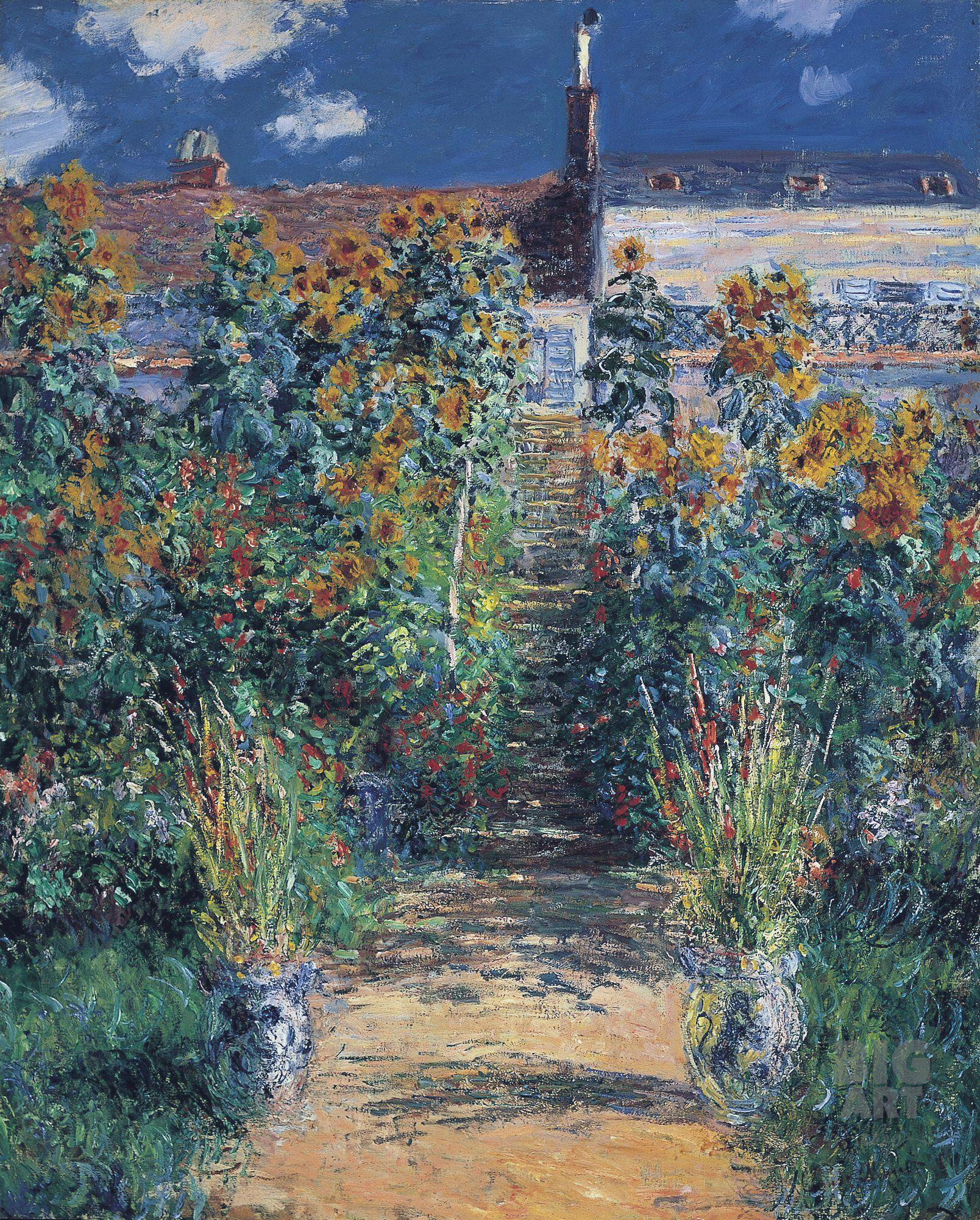 """Monet's Study for """"The Artist's Garden at Vétheuil"""" Shown with National  Gallery of Art Painting for First Time - Alain.R.Truong"""