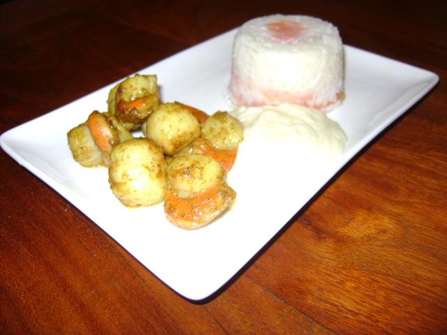 riz saumon noix saint jacques