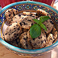 Sablés olives noires parmesan