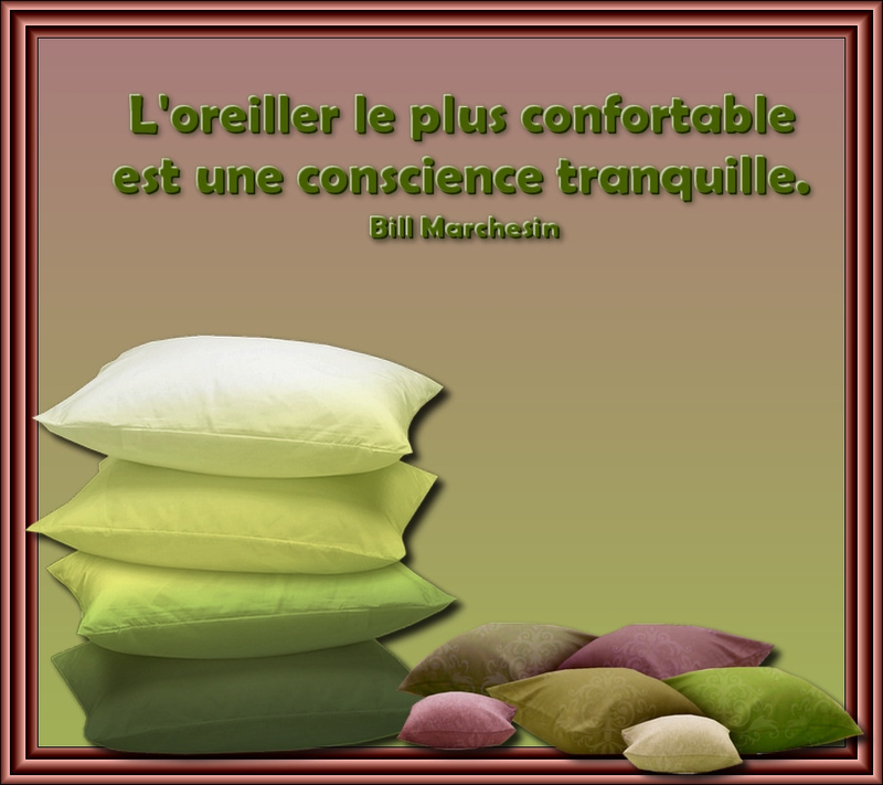 oreiller confortable conscience tranquille