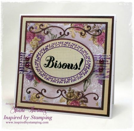 Bisous card front