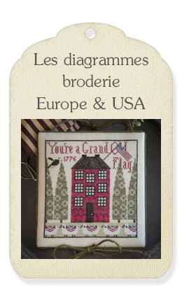 2) Les diagrammes broderie Europe & USA