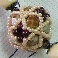 ~~ collier octahedral cluster beads ~~