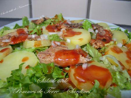 Salade tiède - Pommes de terres et sardines 2