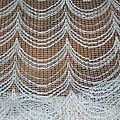 Couture tissu polyester tissé fils bouclés chinés