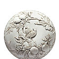 Carved biscuit porcelain box, qing dynasty, mark and period of daoguang (1821–1850)