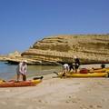 La plage de Bandar Jissah, point de départ de notre périple.