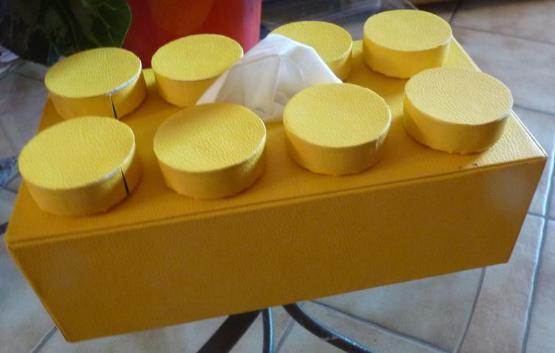 Boite à mouchoirs brique Lego (4)
