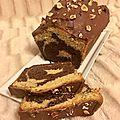 Gâteau marbré recouvert de chocolat