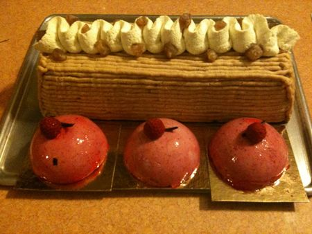 buche mousse Fruits rouges