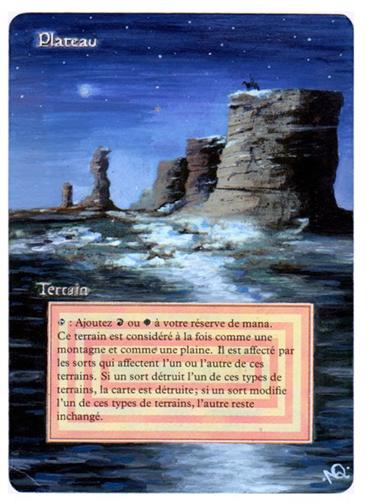 Plateau alteration version nuit