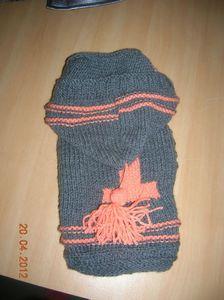 manteau + presentoire tricot