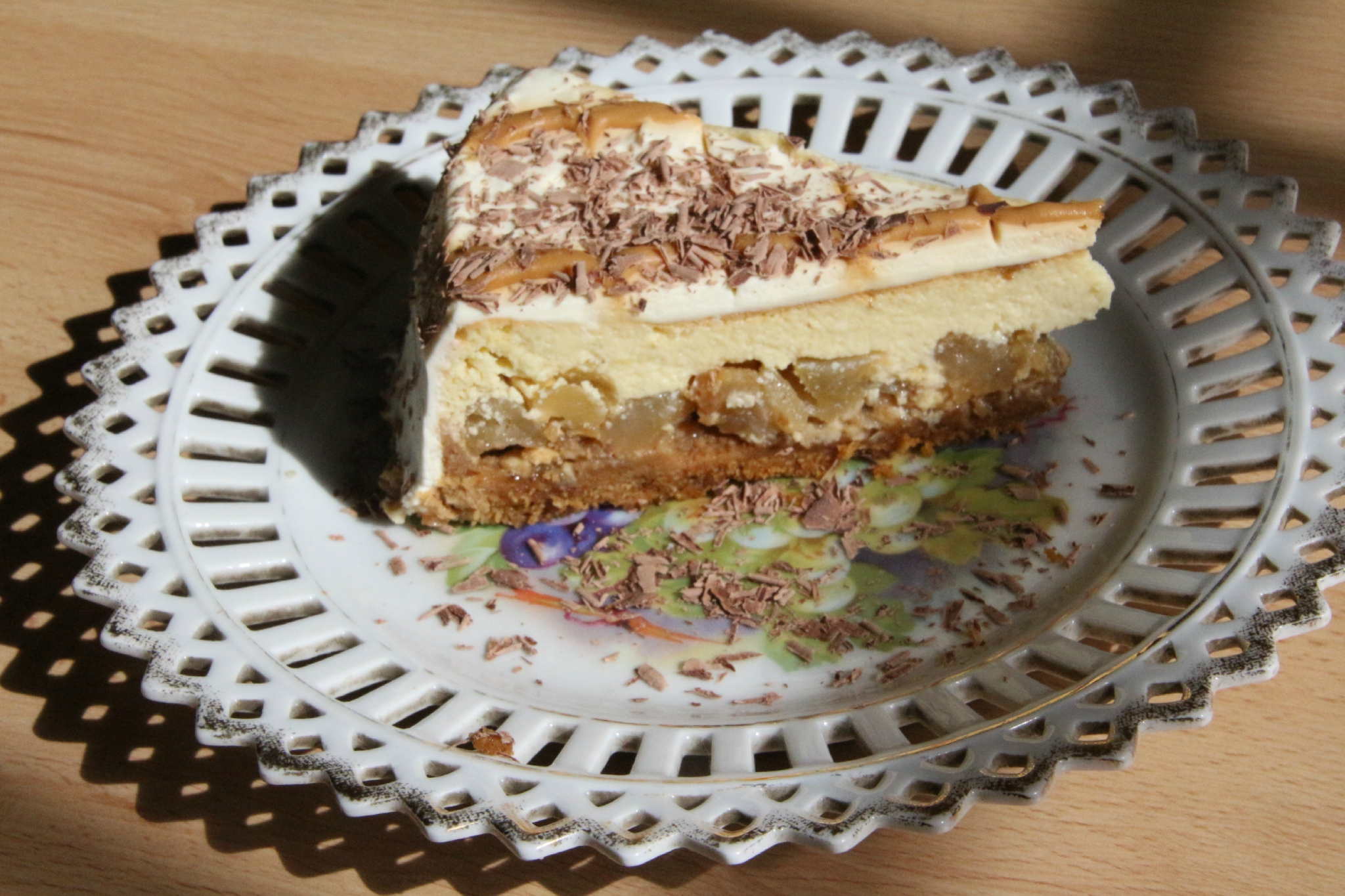 CHEESE-CAKE AUX POMMES CARAMEL BEURRE SALE - Sylgote aux ...