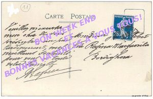 CARTE POSTALE TIMBREE1