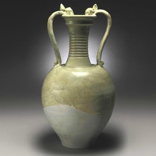 A Celadon-glazed amphora, Tang Dynasty
