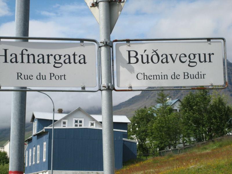 Les seuls écrits en français d'Islande sont à Budir