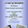 Stage de BRODERIE