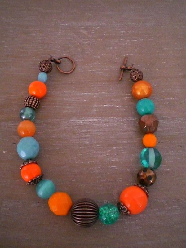 Duo antique Orange/Turquoise 25 euros