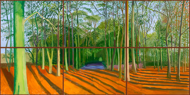 David Hockney, 'Woldgate Woods, 6 & 9 November 2006', collection of the artist (2)