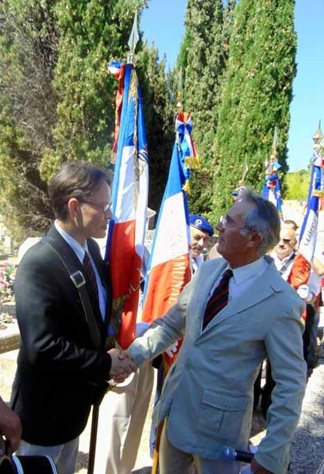 Cérémonie de Gordes, le 2 août 2015
