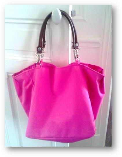 Grand sac cabas rose