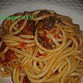 Spaghetti au fenouil sauvage et tomates