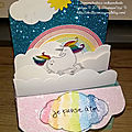 Card-in-a-box licorne arc-en-ciel - 28 mars 18