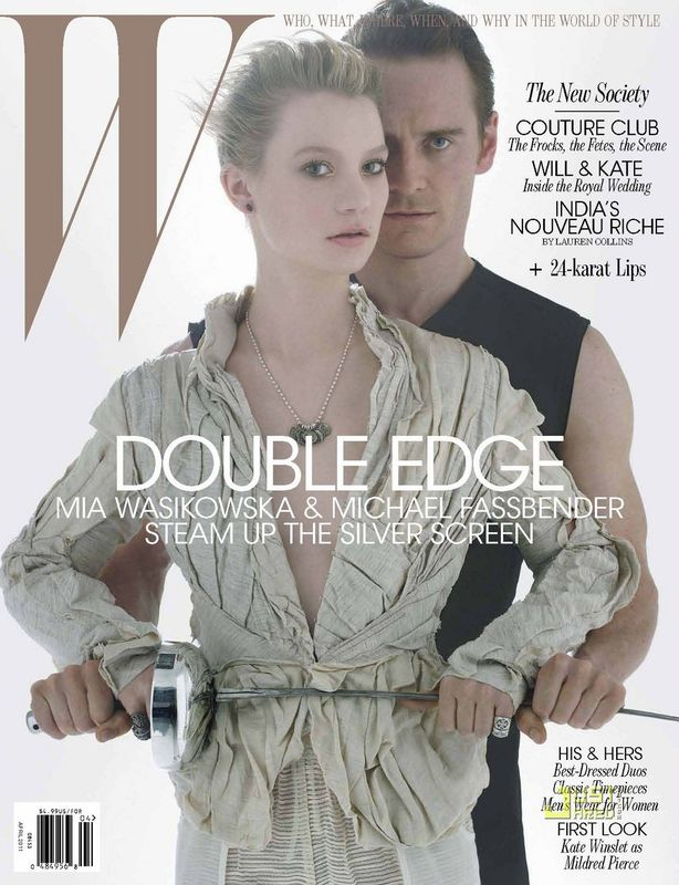 Mia_Wasikowska_Michael_Fassbender_sexy_W_cover