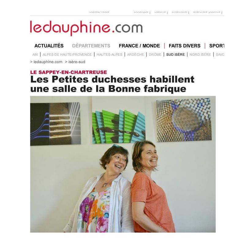 DL_Les Petites duchesses habillent une salle de la Bonne fabrique