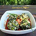 Boulettes de veau aux légumes verts à la vapeur