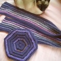 Béret MCI et écharpe assortie avec laine Phildar et Noro