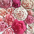 Composition florale en papier