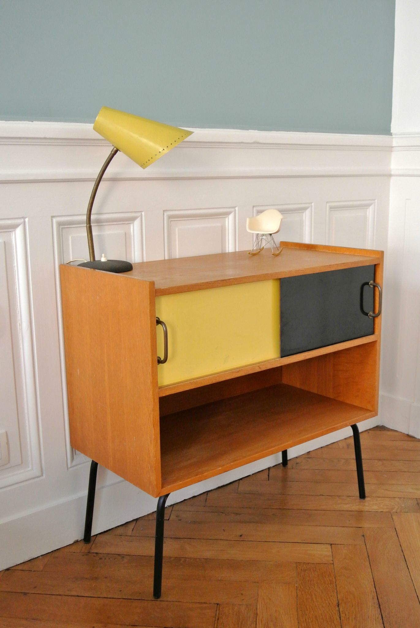 Meuble d 39 appoint ann es 50 solveig vintage kids - Meuble tv annee 50 ...