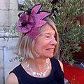 Bijou de tete fleur noire et prune
