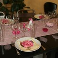 Une table en rose...