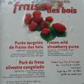 sorbet aux fraises des bois et sablés aux fraises