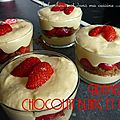 Tiramisu chocolat blanc et fraises