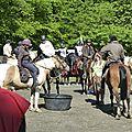 balade à cheval médiévale - Abbaye de Hambye (41)