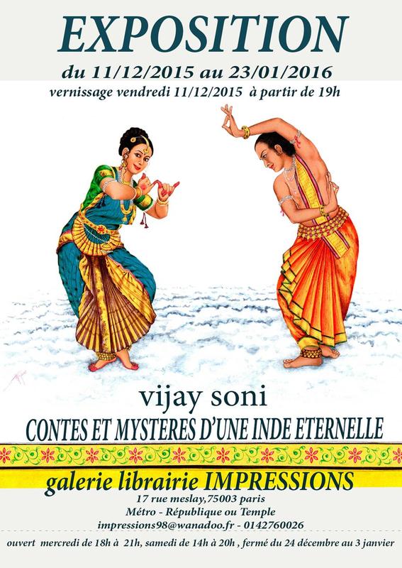 Vijay Soni Exposittion peintures livre Contes et mystères d'une Inde éternelle Adicéam-Dixit