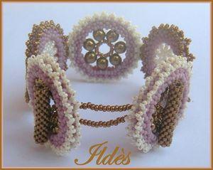 bracelet sans nom rose bronze écru 3