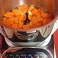 Soupe de courge muscade, carottes