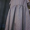 Robe GILBERTE en coton gris à pois blancs (1)