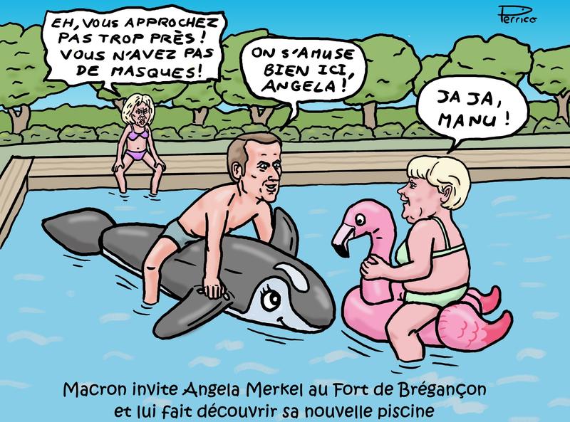 Macron et Merkel à Brégançon - 20 août 2020