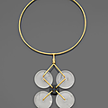A rock crystal and gold necklace circa 1970 by ettore sottsass